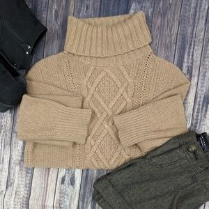 J. Crew Tan Sweater Angora Wool Blend M